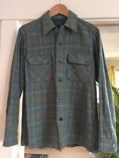 MINT Vintage Pendleton Woolen Mills Wool Shirt Blue Plaid Flannel M, USA