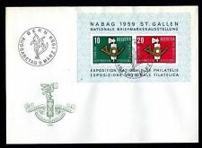 Schweiz Block 16 FDC Nationale Briefmarkenausstellung NABAG 1959