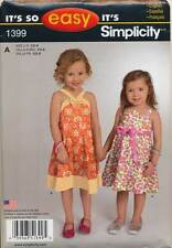 SIMPLICITY SEWING PATTERN 1399 TODDLERS/GIRLS SZ ½-8 EASY FLARED SUN DRESSES