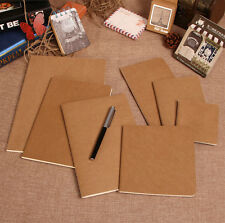 2pcs Kraft Paper Notebook Diary Travel Journal Book Sketchbook Notepads 2 Sizes