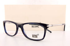 Brand New MONT BLANC Eyeglass  Frames  MB 0439  092 Marble Blue Men Women