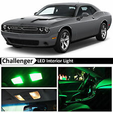11x Green Interior LED Lights Package Kit 2015 Dodge Challenger