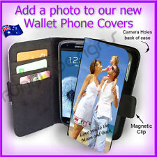 Personalised PHOTO Samsung S3 Galaxy Wallet Flip case PICTURE cover Logo Gift