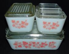 Pyrex GOOSEBERRY PINK *8 PC REFRIGERATOR SET* #2*