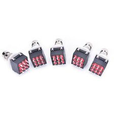 5 pcs 3PDT 9-Pin Guitar Effects Stomp Switch Pedal Box Foot Metal True Bypass NT