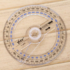 FD4820* Plastic 360 Degree Protractor Ruler Angle Finder Swing Arm School Office