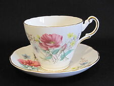 Regency English Bone China Pink Wild Flowers Cup & Saucer ~ Made in England