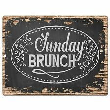 PP0400 Rust SUNDAY BRUNCH Sign Store Shop Cafe Restaurant Home Kitchen Decor