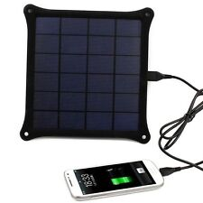 5V 5W Portable Outdoor Solar Panel Power Bank Pack USB External Battery Charger