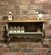 Shabby Chic/Country Kitchen/Cabinet/shelf Unit/wall Unit In French Gray