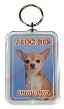 """Porte clé chien """"J'aime mon Chihuahua""""  idée cadeau NEUF"""