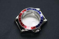 GMT Pepsi style watch case Blue and Red Bezel ETA 2836 ETA 2824-2 Seagull ST1612