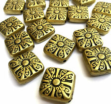 20 x Square Antique Bronze Acrylic Beads Size: about 20 x 20 mm Hole 2mm