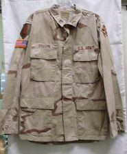 US ARMY DESERT CAMO BDU DCU SHIRT w PATCHES 1st/4th INFANTRY DIVISION MED-REG