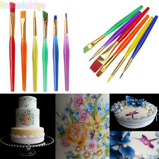 New Kits 6PCS Fondant Sugarcraft Brush Set DIY Cake Decorating Painting Tools