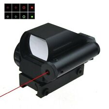 Tactical Holographic Reflex Red / Green Dot Scope 4 Reticle & Red Laser Sight
