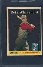 1958 Topps #466 Pete Whisenant Reds NM 58T466-82715-1