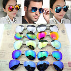 Retro Fashion Unisex Women Men Vintage Aviator Mirror Lens Sunglasses Glasses