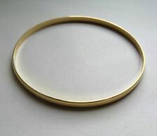 9ct Gold 4mm thick Plain D-shape Slave Bangle 6.4g Hallmarked