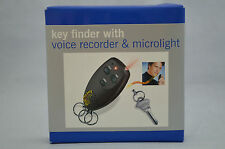 Lost Electronic Key Finder Seeker Locator Voice Recorder And Microlight NEW #DD