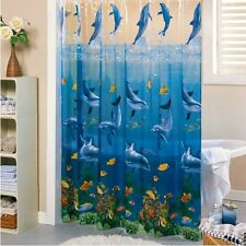 Ocean Animal Waterproof Shower Curtain Jumping Dolphins C047