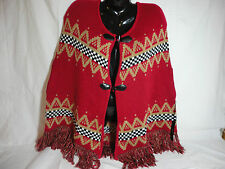 BCBG Shawl Poncho Multi Color & Metallic Small NWT  STORE CLOSING SALE!