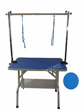 """36"""" Folding Dog Grooming Table Portable Cat Pet Adjustable With 2 Arm Noose"""