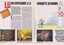 COUPURE DE PRESSE CLIPPING 1986 LU biscuit à la conquête du monde (4 pages)
