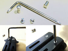 Pivot Pins Screws & Nuts w/ Screwdriver for Balisong Benchmade Knife/Trainer