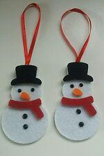 6 feutres snowman.christmas arbre decorations.thick senti avec yeux bijoux noir 8x5cm