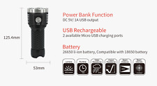 PT26 9X CREE XP-G2 S4 3850LM RECHARGEABLE USB POWER BANK LED FLASHLIGHT,MECARMY