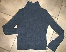 814  Express Navy Blue Tweed Cotton Wool Blend Turtleneck Sweater M