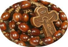 Catholic Red Sandalwood Rosewood Beads Rosary Cross Crucifix NECKLACE Fragrance