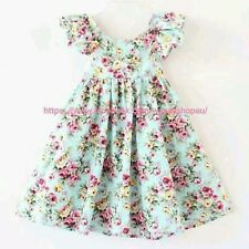 Baby Girls Clothing Dress Vintage Style Floral Dress unique