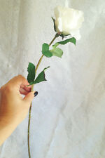 Cream Ivory Real Touch Rose Spray ~  Wedding Silk Flowers Centerpieces Bridal