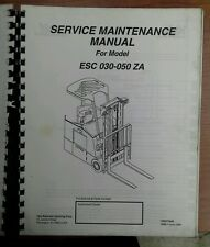 YALE Fork Lift Truck Service Maintenance Manual ESC 030-050 ZA
