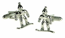 Snow Boarder Cufflinks in Gift Box - Onyx-Art London Sport Winter   CK644
