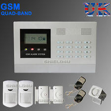 LCD SECURITY WIRELESS MOBILE SIM GSM AUTODIAL HOME OFFICE BURGLAR INTRUDER ALARM