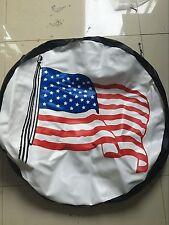 """16"""" White Flag Spare Wheel Tire Tyre Cover Case for All Car Diameter 76-79cm"""