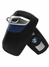 *CHEAPEST ON EBAY * BMW Key Ring Holder Fob Leather Case/Cover M Sport Blue 82
