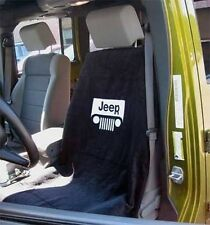 BRAND NEW Jeep Black Seat Towel Cover With Jeep Wrangler Grille Logo