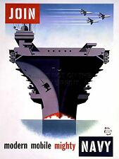 ART PRINT POSTER PROPAGANDA WWII WAR ENLIST NAVY AIRCRAFT CARRIER NOFL1012