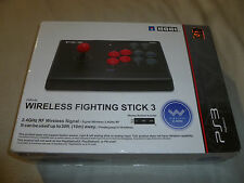 BOXED PS3 WIRELESS FIGHTING STICK 3 HORI CONTROLLER CONTROL FIGHTSTICK JAPAN