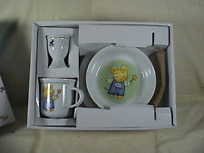 Maxwell Williams Set Of Porcelain Childrens Dishes Mr. Mouse Five Piece NIB