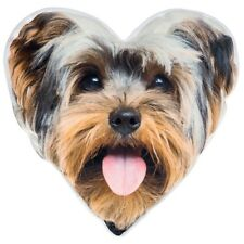 Visage Heart Cushion pillow yorkshire terrier dog small gift present home sofa