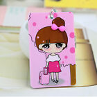 Cartoon Business ID Credit Card Wallet Holder Pocket Case Keychain Key Ring CA33