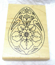 Holly Berry House Easter Egg rubber stamp Decorated eggs flowers fancy Holidays