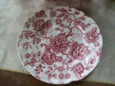 Johnson Brothers/England...English Chippendale Dinner Plate........Burgundy/Rose