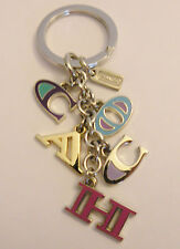 NEW Coach 62741 Mix Color Coach Letter Keychain Key Fob