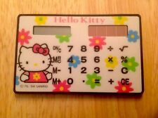 VINTAGE 1994 SANRIO HELLO KITTY SOLAR POWER 2x4 CALCULATOR SCHOOL WORKS!